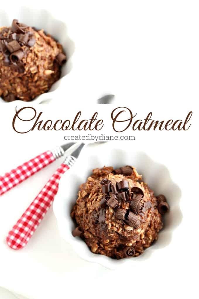 chocolate oatmeal recipe from createdbydiane.com