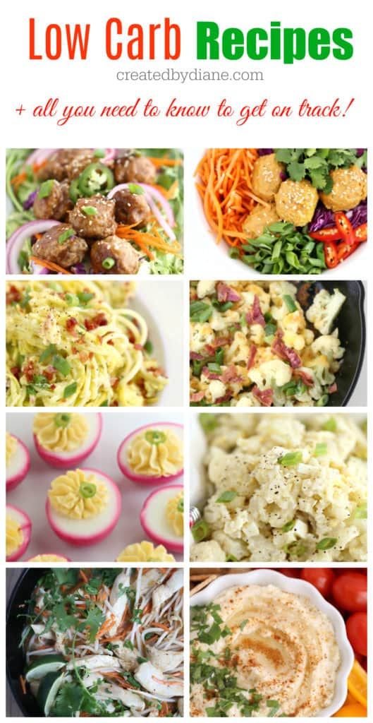 low carb recipes and advice on how to lose weight, keep on track and more createdbydiane.com