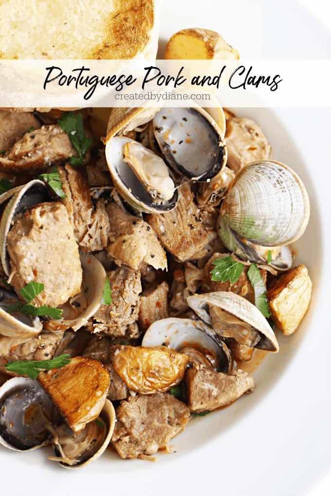 Portuguese pork and clams createdbydiane.com