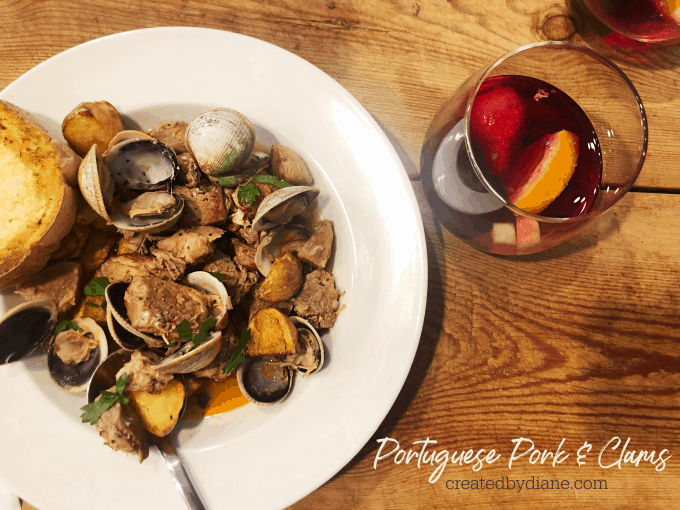 portuguese pork and clams recipe Instant Pot or stove cooking methods createdbydiane.com