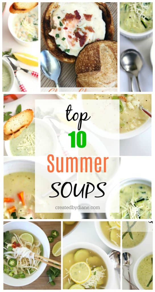 top summer soup recipes createdbydiane.com