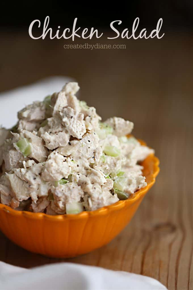 Chicken Salad Recipe createdbydiane.com