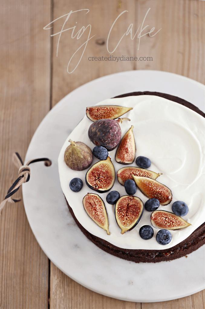 Fig Cake createdbydiane.com