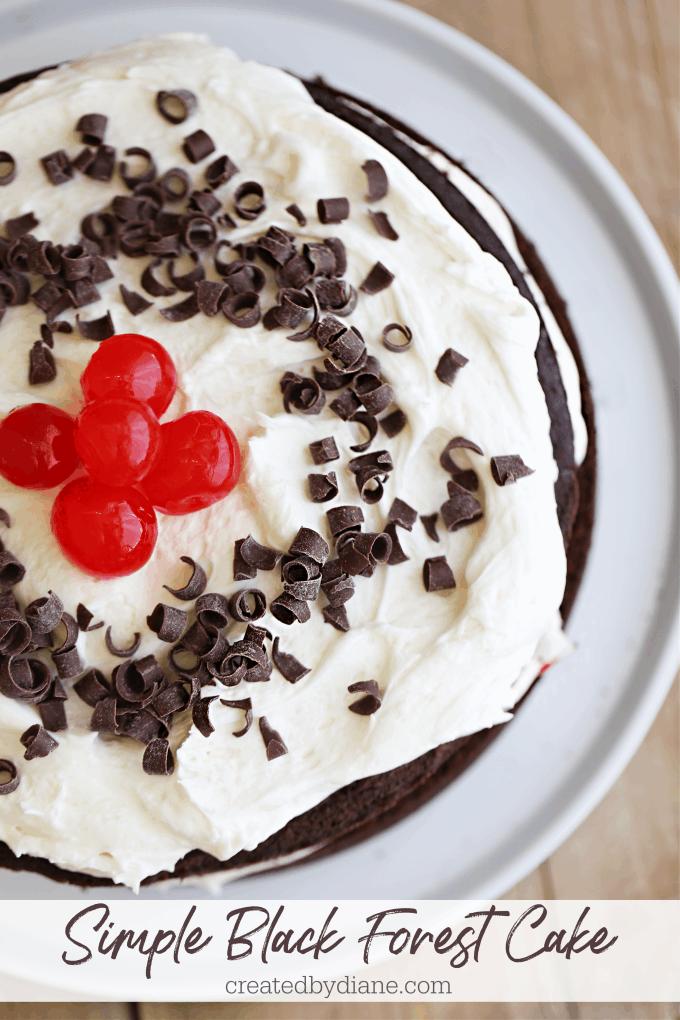 Simple Black Forest Cake createdbydiane.com