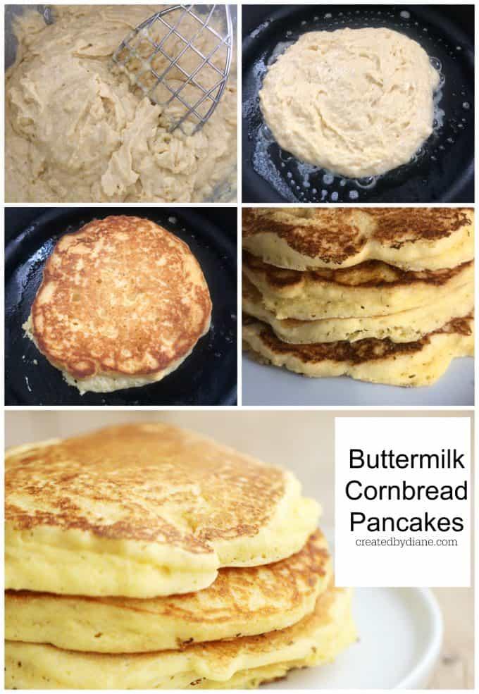 buttermilk cornbread pancakes southern hoe cakes recipe from createdbydiane.com