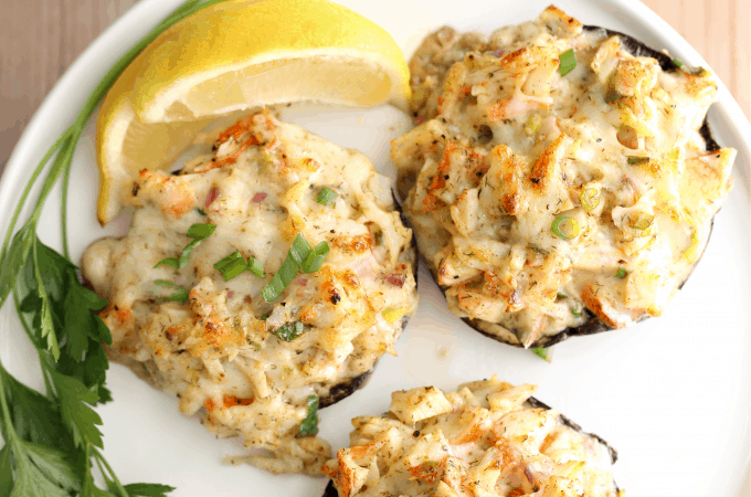 crab stuffed mushrooms low carb recipe createdbydiane.com