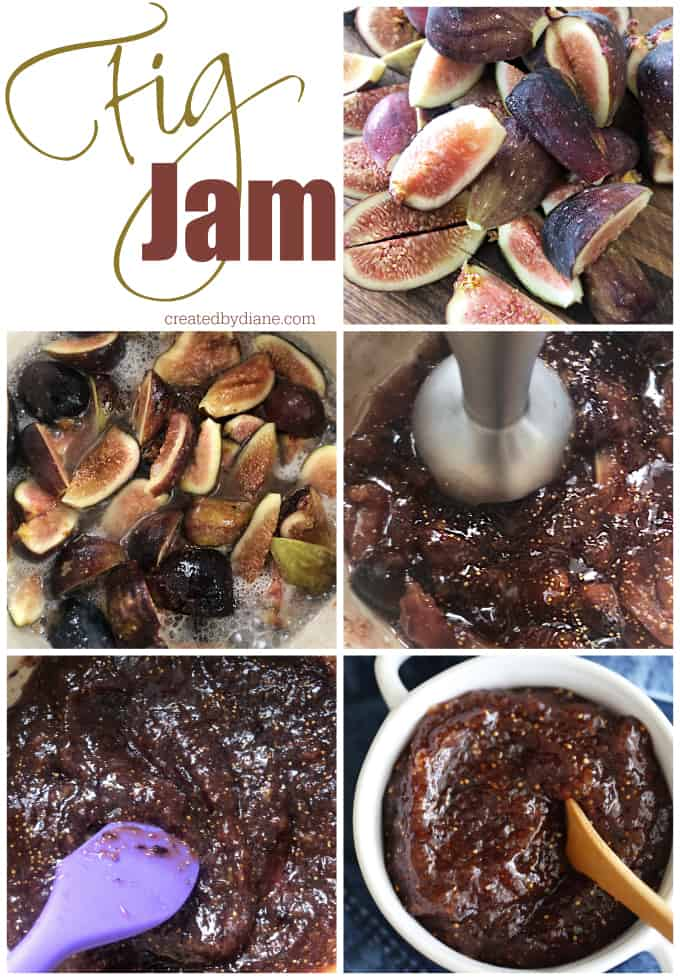 fig jam, easy simple recipe that is perfect for anyone to make with fresh figs createdbydiane.com