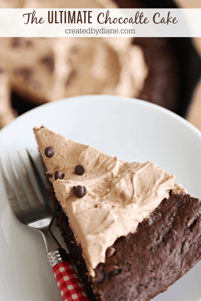 the ULTIMATE Chocolate Cake createdbydiane.com