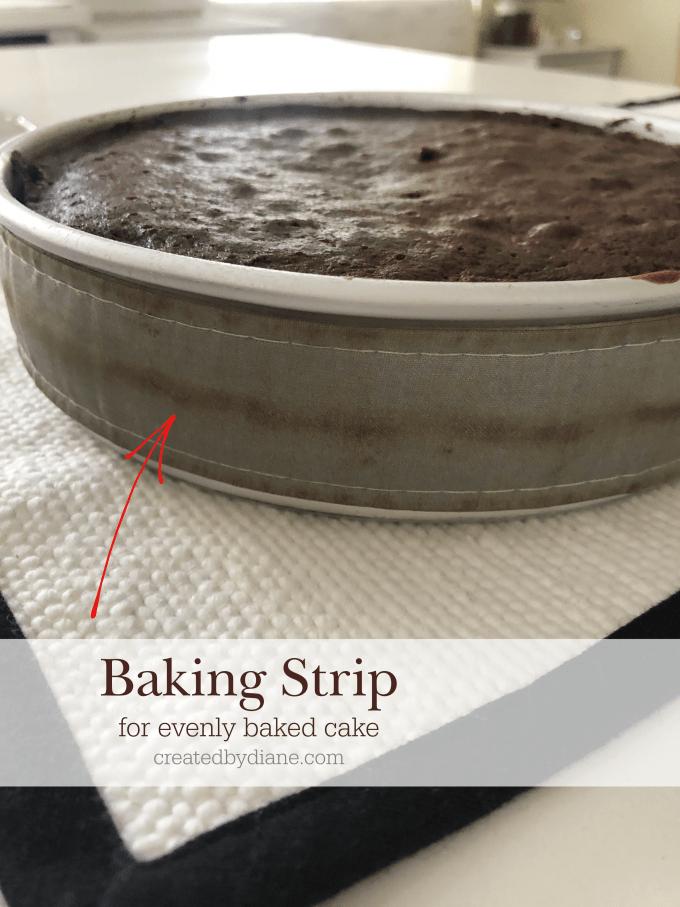 baking strip for evenly baked cake createdbydiane.com