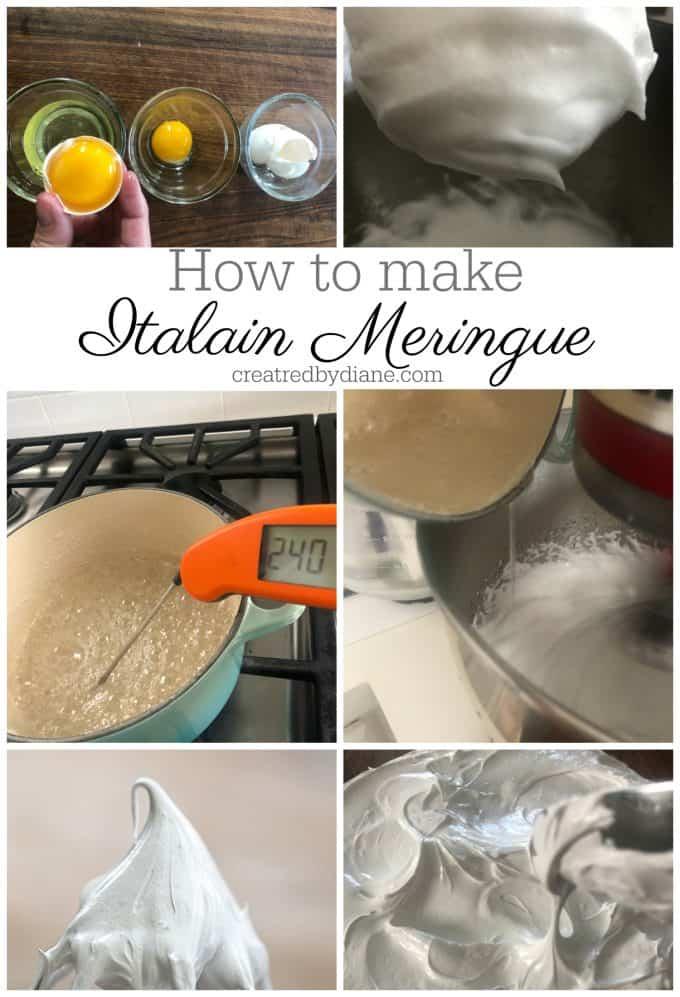 how to make Italian Meringue createdbydiane.com