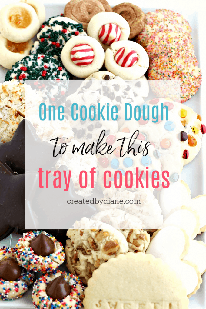 one cookie dough to make this cookie variety createdbydiane.com