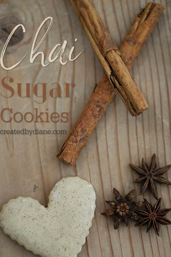 Chai Sugar Cookies easy cut out glazed cookie recipe createdbydiane.com