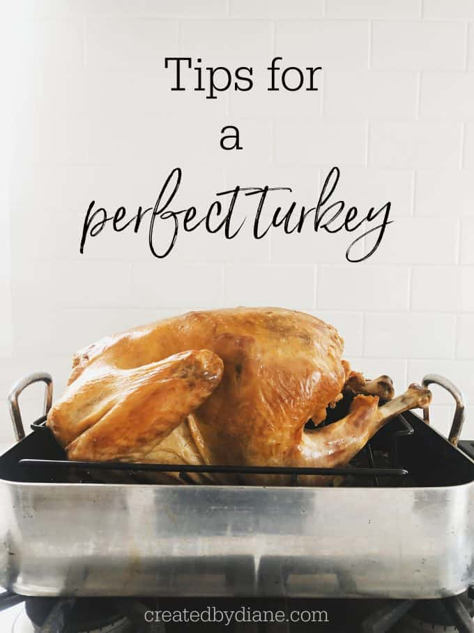 Tips for a perfect turkey from createdbydiane.com