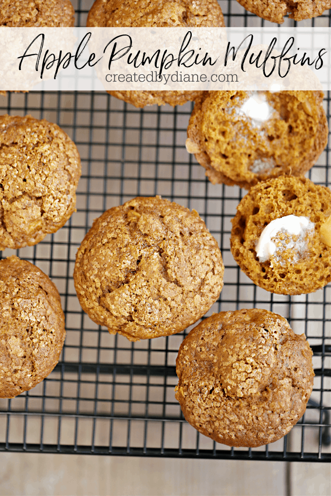 apple pumpkin muffins from createdbydiane.com
