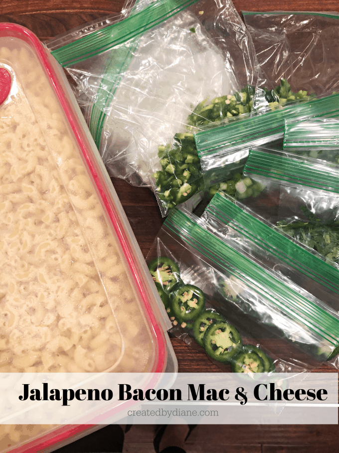 jalapeno bacon mac and cheese recipe make ahead tips, time saving tips createdbydiane.com