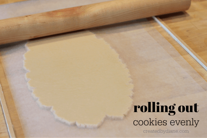 rolling out cookies evenly createdbydiane.com