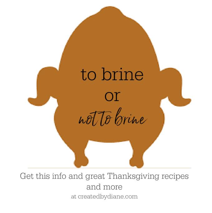 to brine on not to brine createdbydiane.com