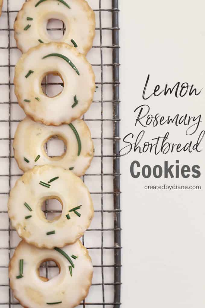 Easy Cut Out Shortbread Cookies with lemon and rosemary createdbydiane.com
