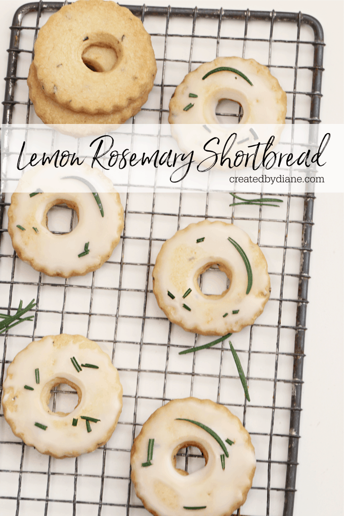 Lemon Rosemary Shortbread Cookies createdbydiane.com