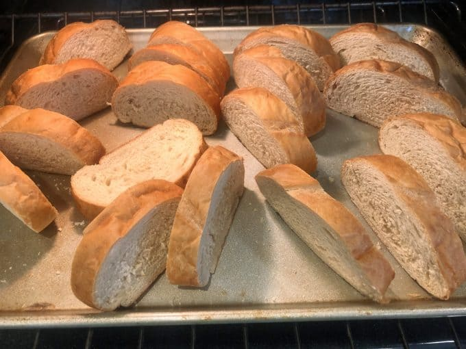 baking french bread until stale for perfect french toast createdbydiane.com