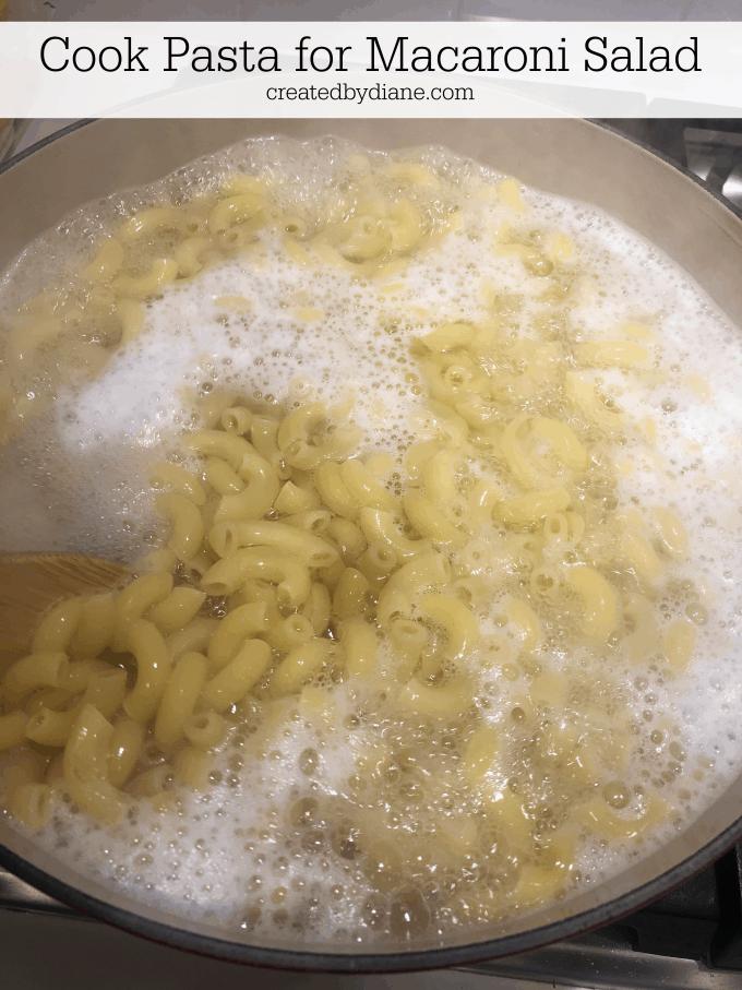 cook pasta for macaroni salad