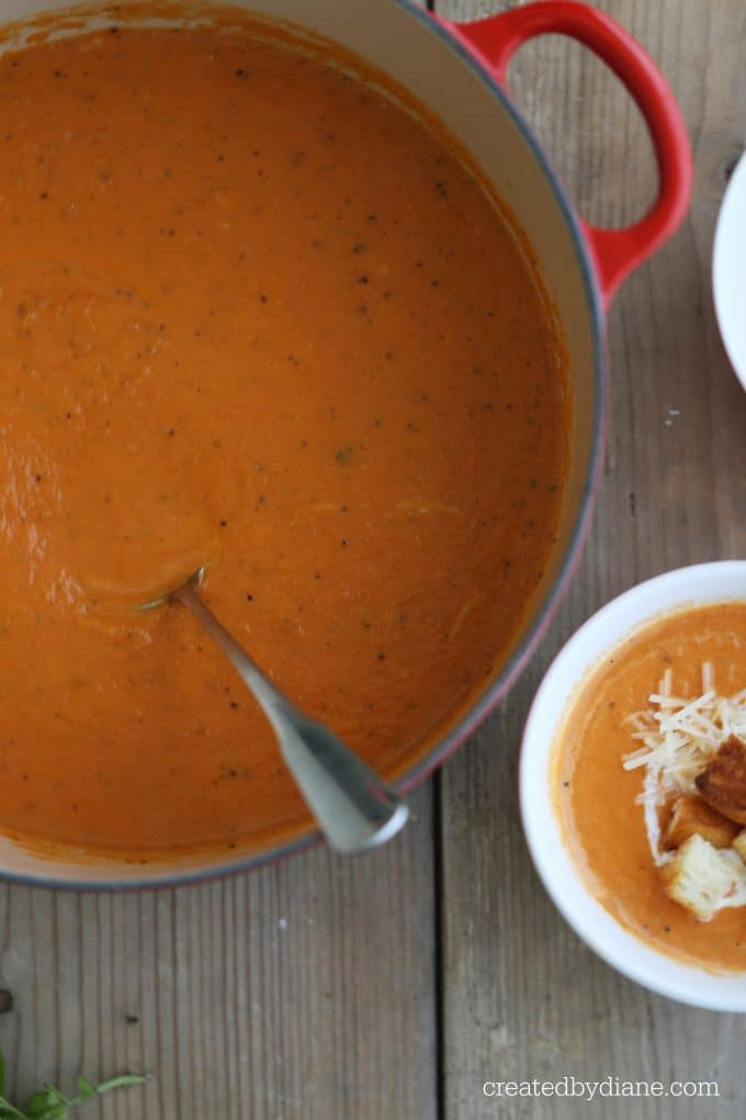 creamy tomato bisque soup createdbydiane.com