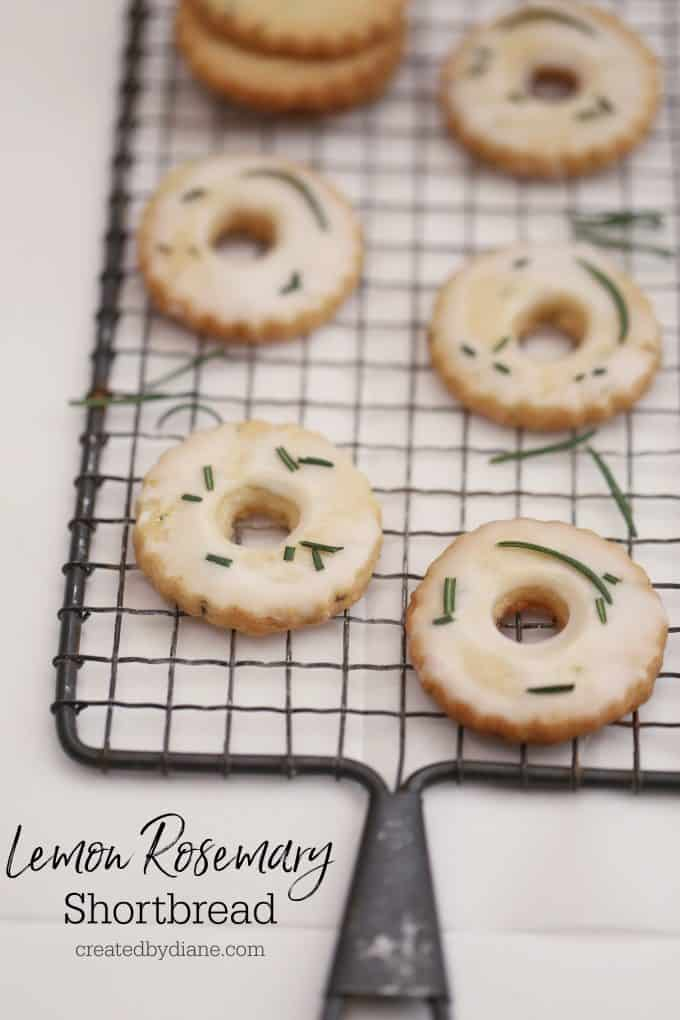 lemon and rosemary shortbread cookies createdbydiane.com
