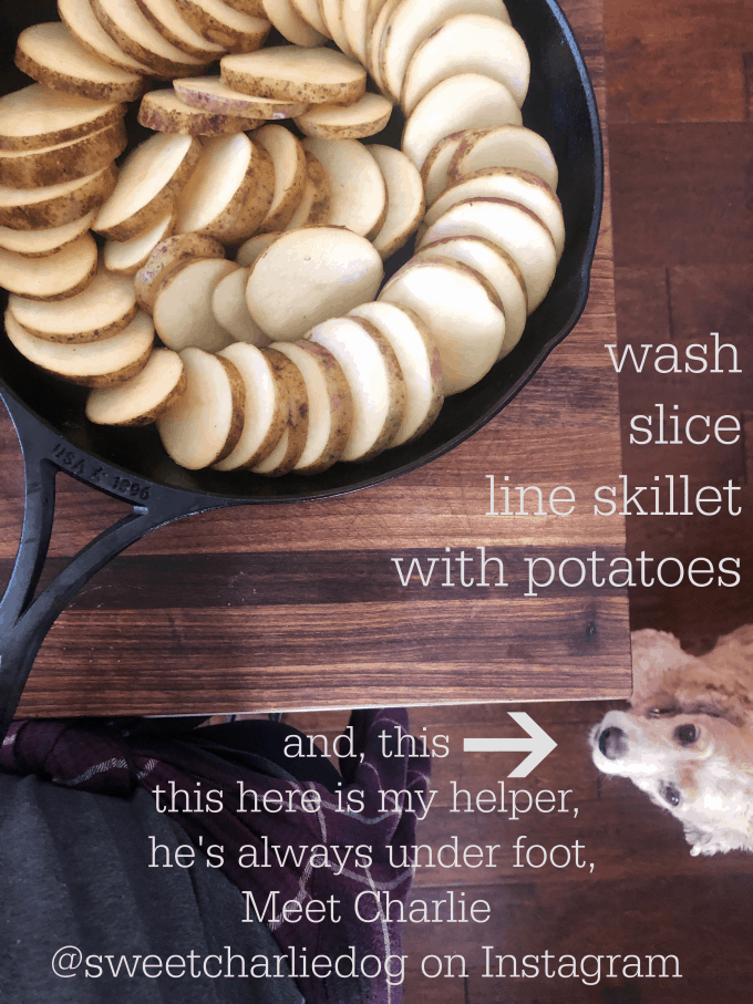 wash, slice, layer potatoes for scalloped potatoes createdbydiane.com