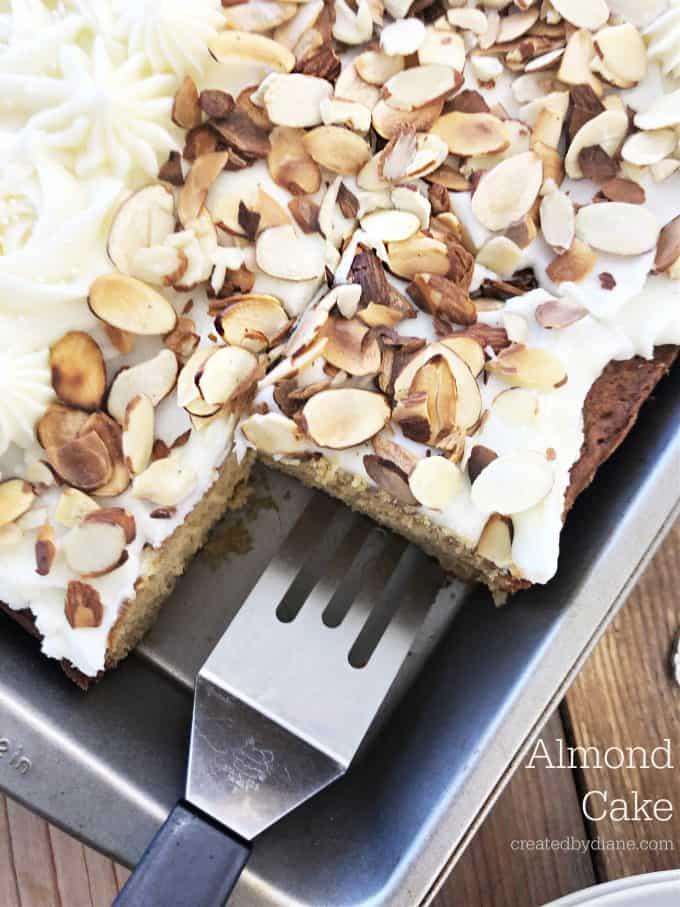 Almond Cake createdbydiane.com