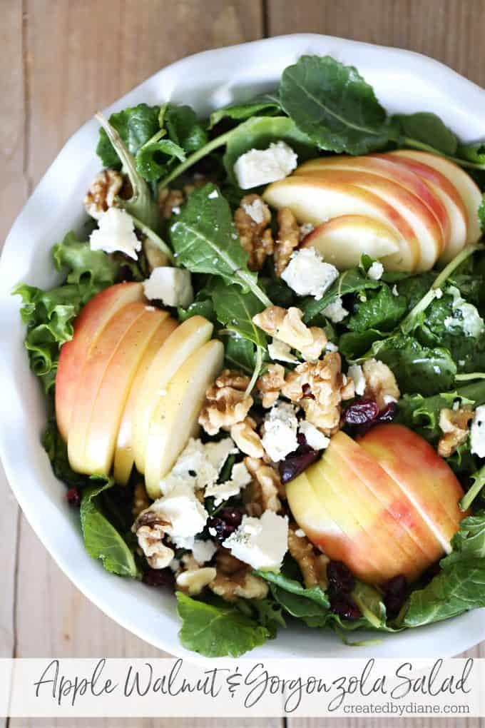 Apple Walnut and gorgonzola Salad createdbydiane.com