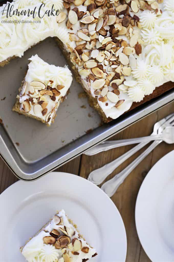 almond cake from createdbydiane.com