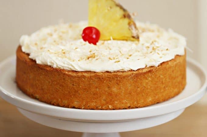 pineapple coconut 8 round cake createdbydiane.com