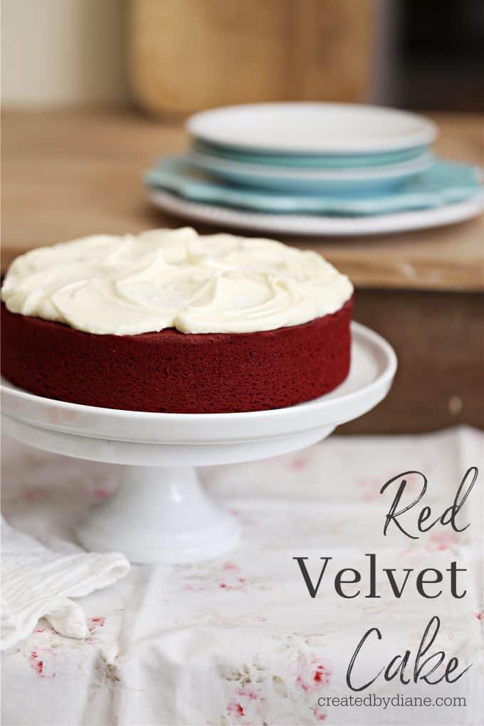 red velvet cake recipe single layer 8 inch round cake createdbydiane.com