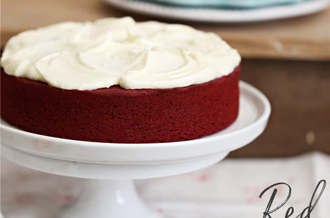 red velvet cake recipe single layer 8 inch round cake createdbydiane.com