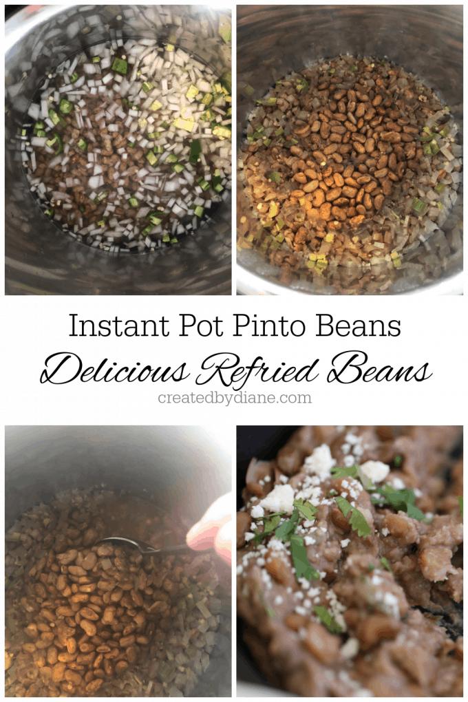 super easy instant pot refried beans createdbydiane.com
