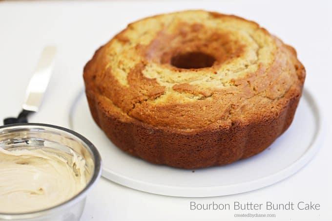 Bourbon Butter Bundt Cake with a delicious bourbon glaze createdbydiane.com