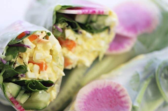 Egg Salad Spring Rolls createdbydiane.com