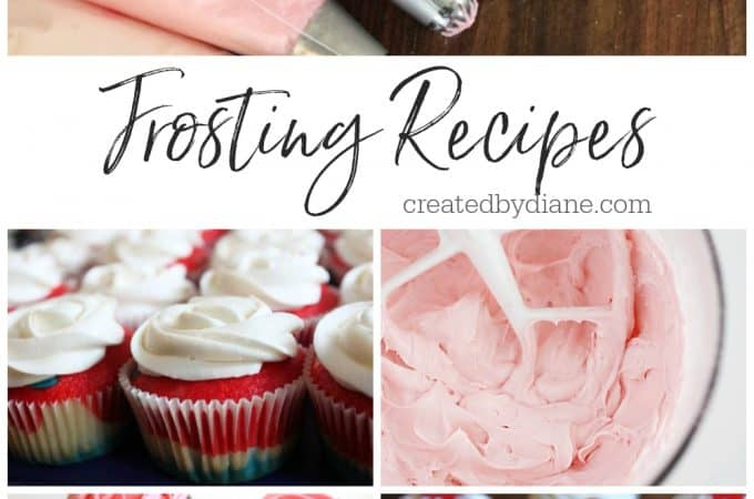 Great Frosting Recipes from createdbydiane.com