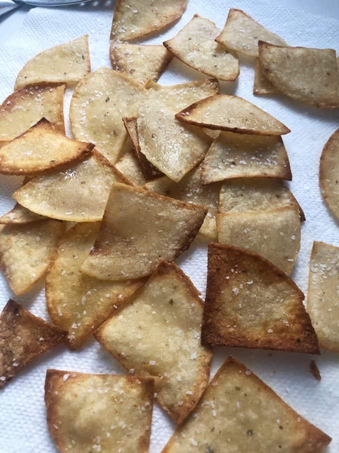 Hot and crispy Tortilla Chips createdbydaine.com