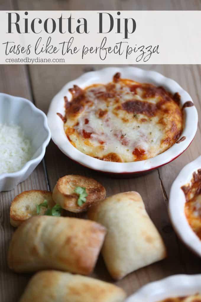 Ricotta Pizza Dip Recipe createdbydiane.com