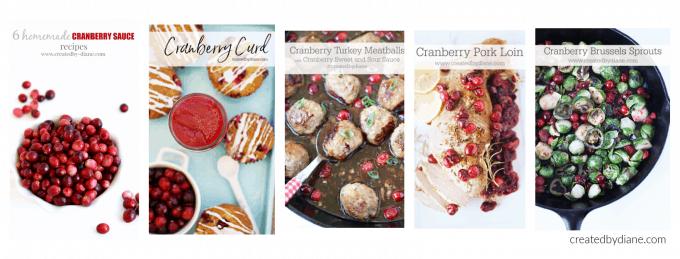cranberry recipes at createdbydiane.com