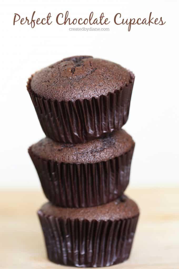 perfect Chocolate Cupcakes createdbydiane.com