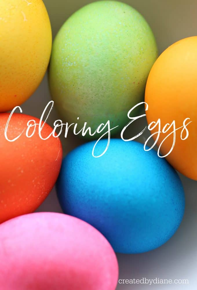 Coloring eggs, dying eggs, food colored egg shells