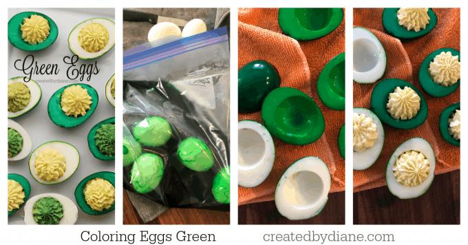 Coloring Eggs Green createdbydiane.com