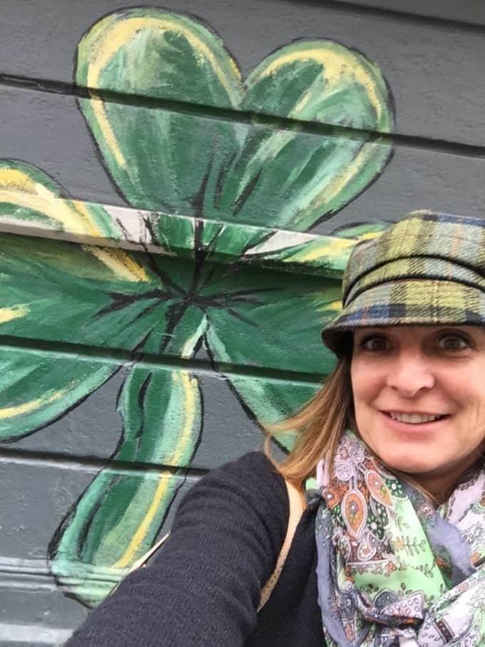 createdbydiane in Ireland with painted shamrock