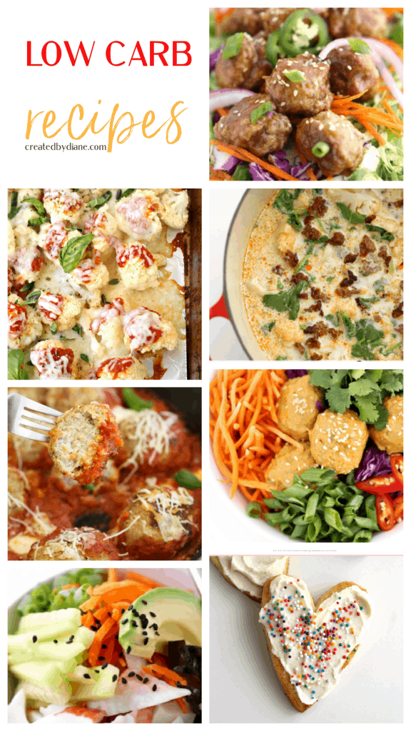 LOW CARB RECIPES from createdbydiane.com