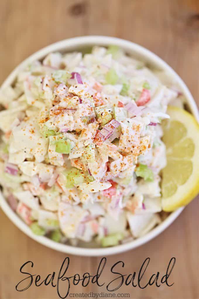 Seafood Salad Recipe createdbydiane.com