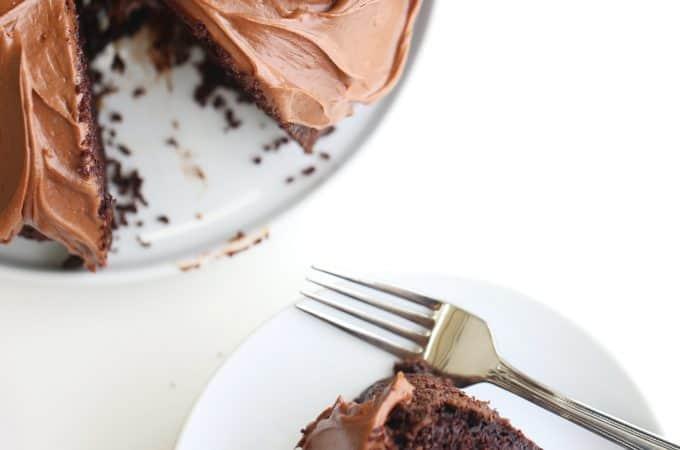 Chocolate Sour Cream Bundt Cake with Chocolate Sour Cream Frosting createdbydiane.com
