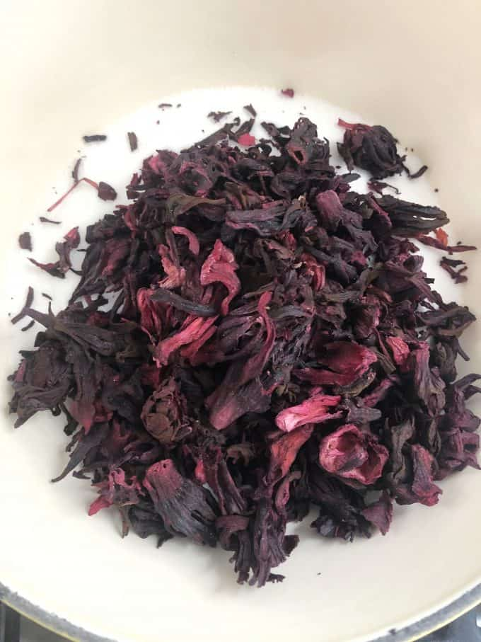 Dried Hibiscus Flor de Jamaica, great for making hibiscus syrup createdbydiane.com