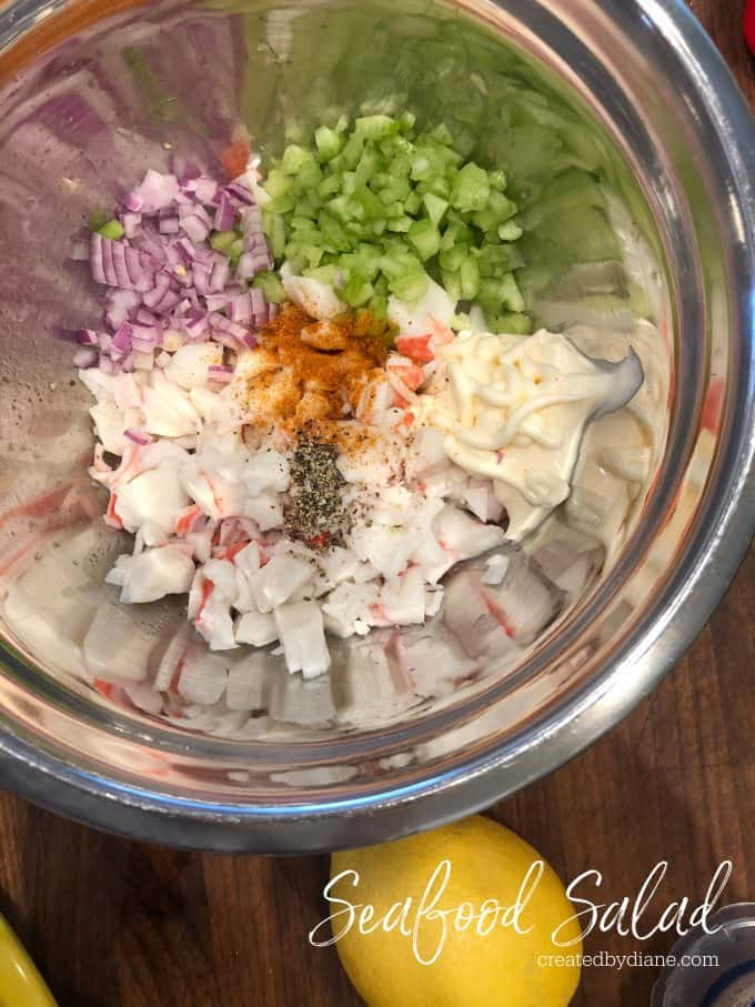 Seafood Salad RECIPE from createdbydiane.com